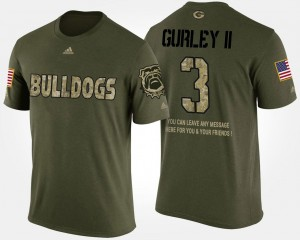 Short Sleeve With Message Military Camo #3 Todd Gurley II UGA T-Shirt Men