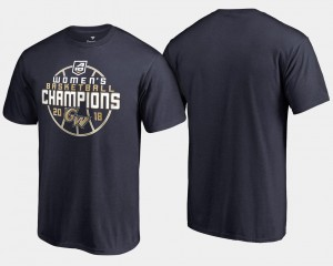 For Men's Colonials T-Shirt Navy 2018 Atlantic 10 Women's Champions Basketball Conference Tournament