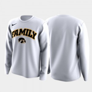 White For Men's Family on Court University of Iowa T-Shirt March Madness Legend Basketball Long Sleeve