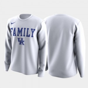 White Family on Court For Men March Madness Legend Basketball Long Sleeve Wildcats T-Shirt