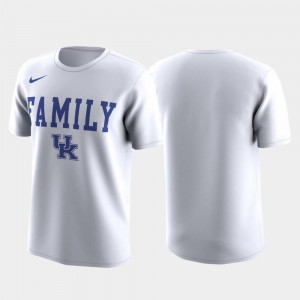 Men's March Madness Legend Basketball Performance White Family on Court Kentucky T-Shirt