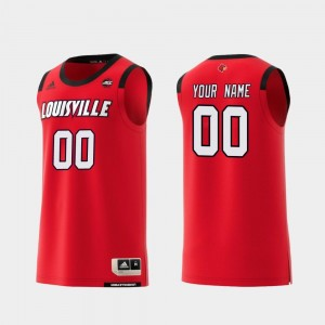Louisville Cardinals Customized Jersey Replica College Basketball Red Mens #00