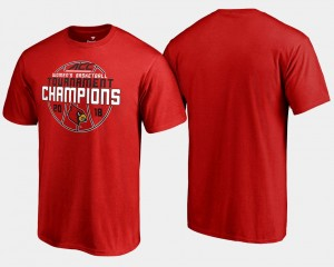 Red Basketball Conference Tournament Men's 2018 ACC Women's Champions Louisville T-Shirt