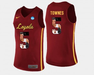 Pictorial Fashion Basketball #5 Maroon Marques Townes Ramblers Jersey Mens