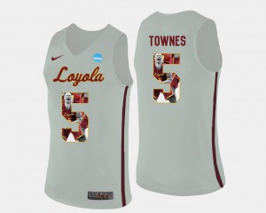 White #5 Pictorial Fashion Marques Townes Ramblers Jersey Basketball Men's