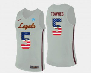 Mens Marques Townes Loyola Jersey Basketball US Flag Fashion White #5
