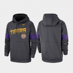 Anthracite For Men Performance Pullover Nike LSU Hoodie