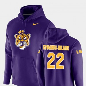 For Men's #22 Nike Pullover Purple Vault Logo Club Clyde Edwards-Helaire Tigers Hoodie