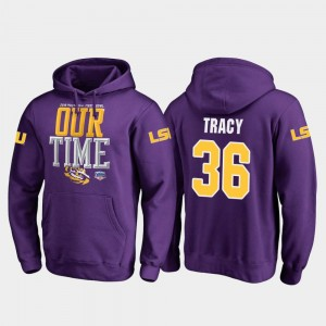 Purple For Men's Fanatics Branded Counter #36 2019 Fiesta Bowl Bound Cole Tracy Tigers Hoodie