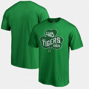 LSU T-Shirt Paddy's Pride Big & Tall For Men Kelly Green St. Patrick's Day