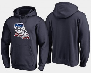 Mens Navy Big & Tall Banner State Tigers Hoodie