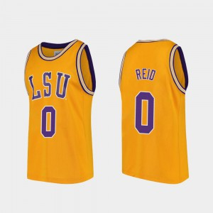 For Men's Replica Gold Naz Reid Tigers Jersey #0 College Basketball