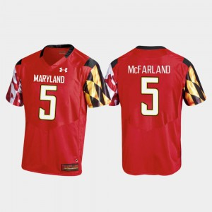 Anthony McFarland Terrapins Jersey #5 Replica Under Armour College Football Red Mens
