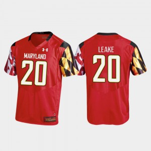 Men Replica Under Armour Javon Leake University of Maryland Jersey #20 Red College Football