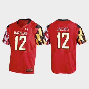 Replica Under Armour Taivon Jacobs Maryland Terrapins Jersey College Football Red #12 Men
