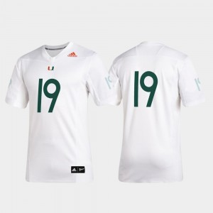 #19 Men's White Premier Football Hurricanes Jersey 2019 Special Game