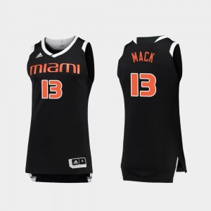 For Men College Basketball Chase Anthony Mack Miami Jersey Black White #13