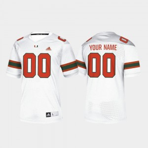 College Football White Miami Hurricanes Customized Jersey #00 For Men's
