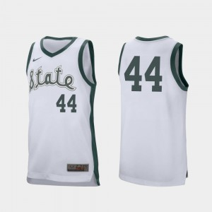 For Men Nick Ward Spartans Jersey White Retro Performance College Basketball #44