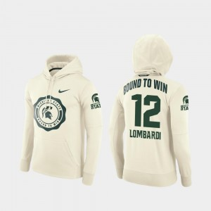 Rocky Lombardi Spartans Hoodie #12 Men College Football Pullover Rival Therma Cream
