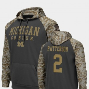 #2 United We Stand Charcoal Mens Shea Patterson Michigan Hoodie Colosseum Football