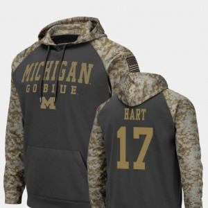 #17 Colosseum Football United We Stand For Men's Will Hart Michigan Wolverines Hoodie Charcoal