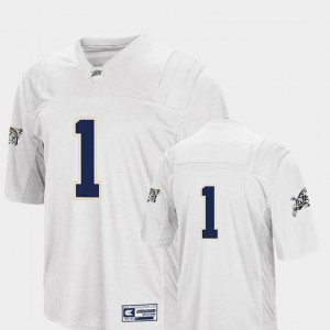 Mens Colosseum Authentic #1 White Midshipmen Jersey College Football