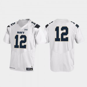 Replica White For Men's Navy Jersey College Football Under Armour #12