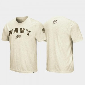 Oatmeal OHT Military Appreciation Desert Camo For Men's United States Naval Academy T-Shirt