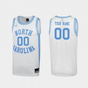 #00 UNC Custom Jersey Men White March Madness Special College Basketball