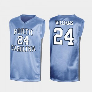Special College Basketball March Madness Royal #24 Men's Kenny Williams UNC Tar Heels Jersey