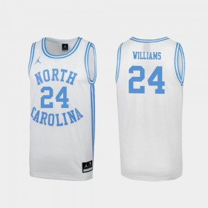 Kenny Williams North Carolina Jersey Special College Basketball Men's #24 March Madness White