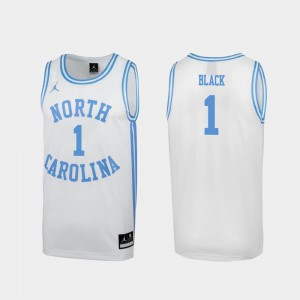 For Men's Leaky Black UNC Tar Heels Jersey Special College Basketball #1 White March Madness