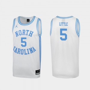 Nassir Little North Carolina Jersey For Men's White Special College Basketball March Madness #5