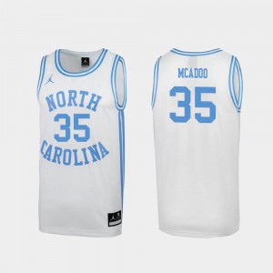 #35 Special College Basketball Ryan McAdoo UNC Tar Heels Jersey March Madness For Men White
