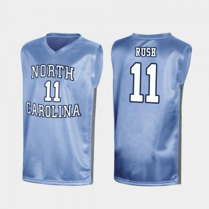 Shea Rush Tar Heels Jersey March Madness For Men Royal #11 Special College Basketball