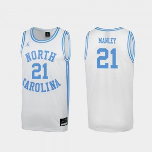 White March Madness #21 Sterling Manley North Carolina Jersey Special College Basketball For Men's