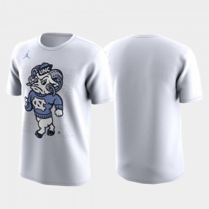 March Madness Legend Basketball Performance UNC T-Shirt For Men Family on Court White