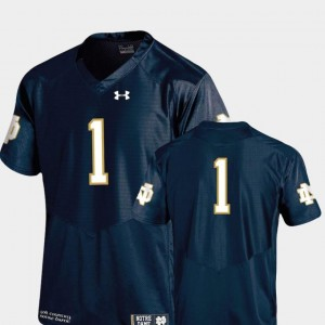 Authentic Performance Under Armour Navy Alumni Football Game Notre Dame Jersey #1 Mens