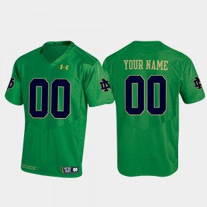 University of Notre Dame Custom Jersey Football Under Armour For Men's Replica #00 Kelly Green