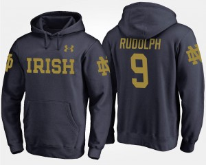 Name and Number Kyle Rudolph Notre Dame Fighting Irish Hoodie Men's #9 Navy