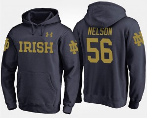 For Men #56 Name and Number Quenton Nelson Fighting Irish Hoodie Navy