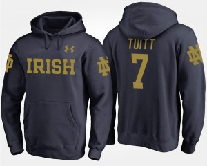 For Men's #7 Navy Stephon Tuitt UND Hoodie Name and Number