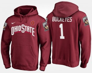 #1 Scarlet Ohio State Hoodie Men's No.1 Name and Number