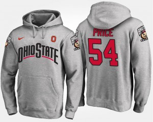 Men's Name and Number Billy Price Ohio State Buckeyes Hoodie Gray #54