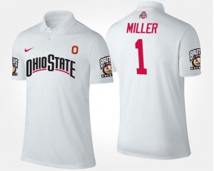 #5 Name and Number For Men's Braxton Miller OSU Buckeyes Polo White