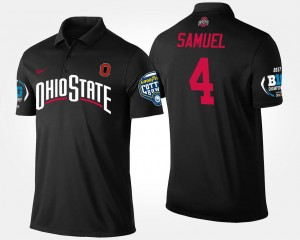 Black Big Ten Conference Cotton Bowl Name and Number Mens Bowl Game #4 Curtis Samuel Ohio State Polo