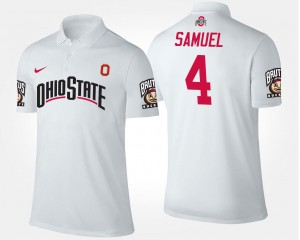 Name and Number White #4 For Men's Curtis Samuel Ohio State Polo