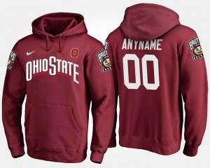 Scarlet For Men's Ohio State Custom Hoodie Name and Number #00