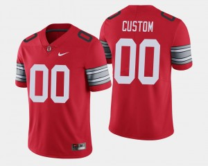 Scarlet #00 For Men 2018 Spring Game Limited Ohio State Customized Jerseys
